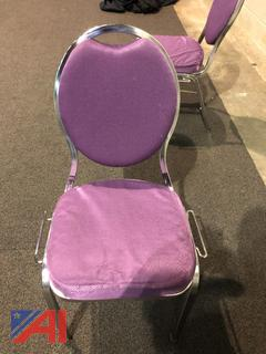 Purple Round Back Dining Chairs